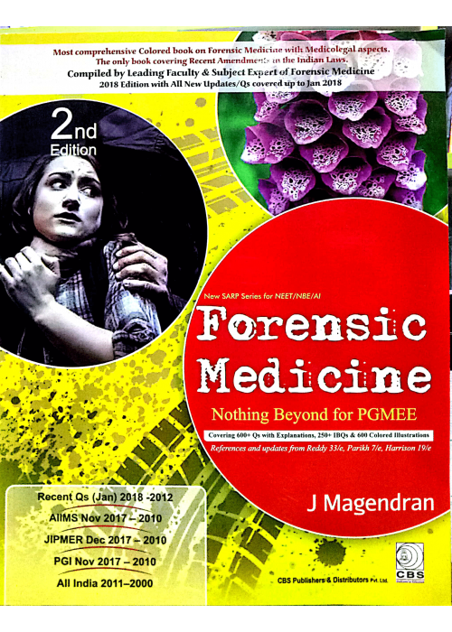 Forensic Medicine (Nothing Beyond for PGMEE ) - J Magendran
