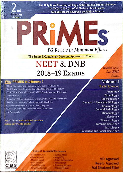 PRIMEs PG review in Minimum efforts Volume 1