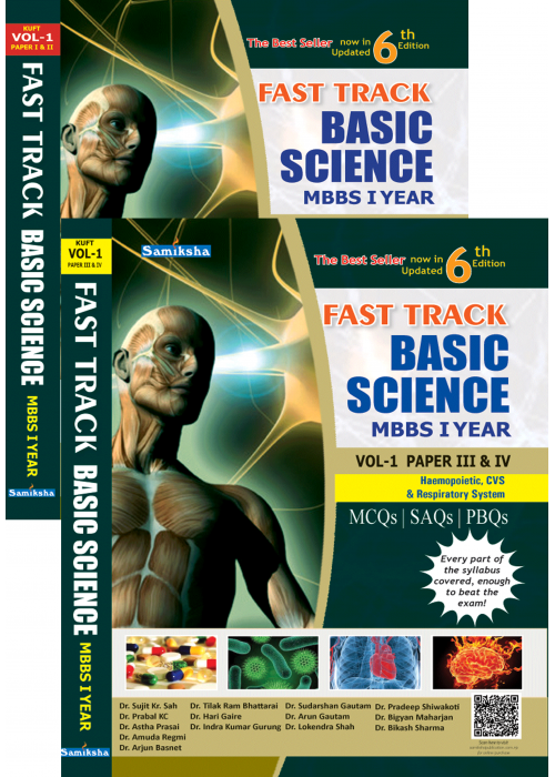 FAST TRACK BASIC SCIENCE MBBS Vol. I for FIRST YEAR (2 Parts Set)