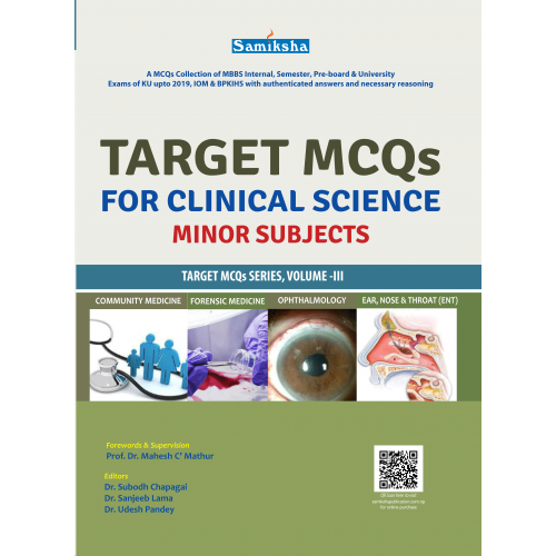 Target MCQs for Clinical Sciences, Minor Subjects ( Vol. III)