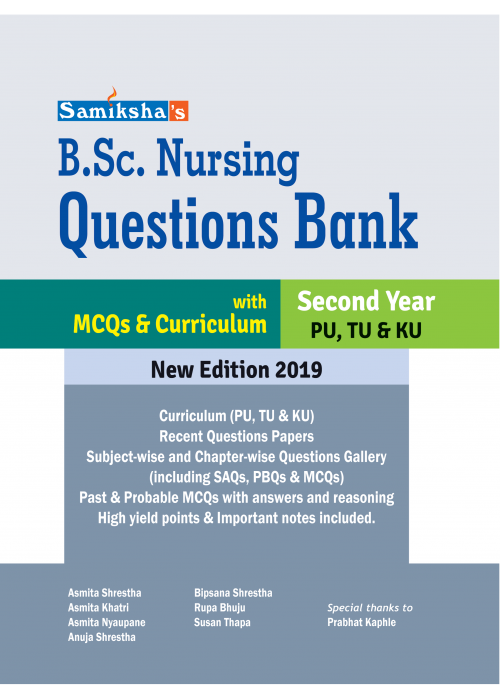 B.Sc. Nursing Questions Bank - Second Year