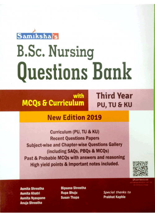B.Sc. Nursing Questions Bank Third Year