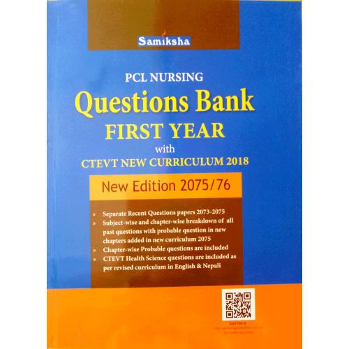 PCL Nursing Questions Bank First Year with CTEVT new Curriculum 2018