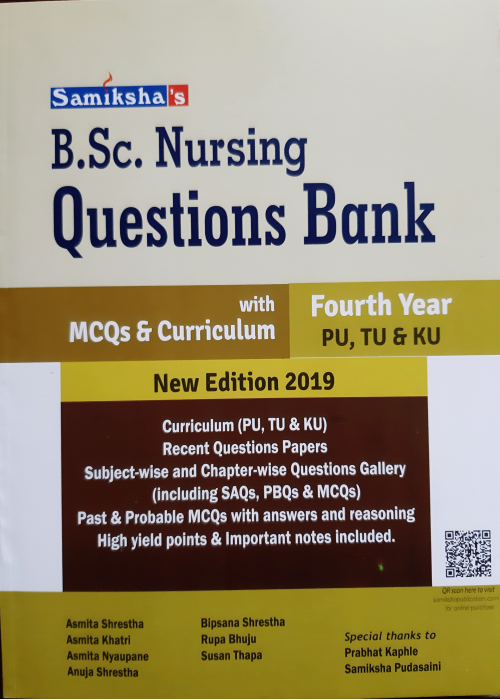 B.Sc. Nursing Questions Bank - Fourth Year