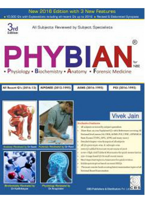Phybian Physiology Biochemistry Anatomy and Forensic Medicine for NBE