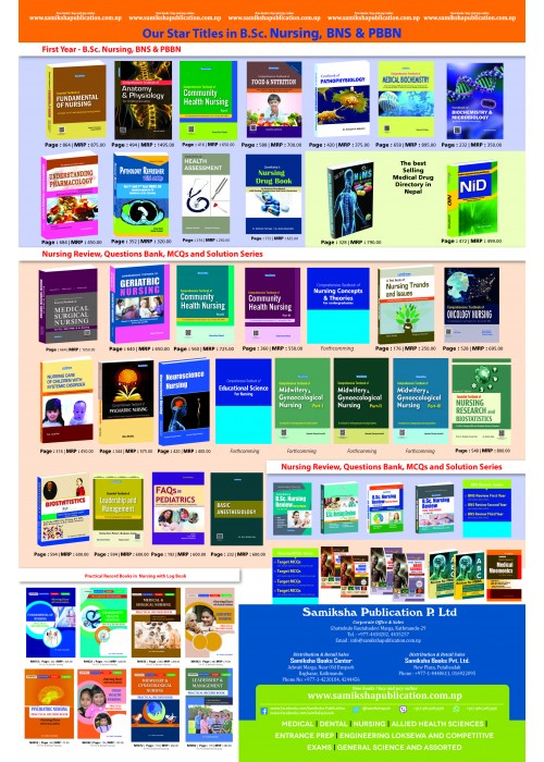 B.Sc. Nursing and BNS,PBBN Book poster 2019