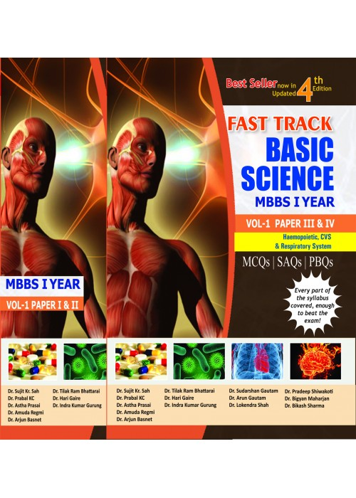 Fast Track Basis Science MBBS Volume - 1-Paper I to IV